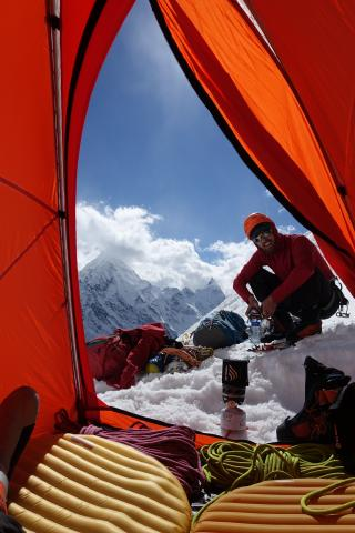 View from the bivy tent on Kishtwar Eiger