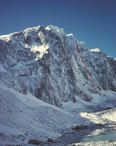 The Southwest Face of Mt Percy Smith