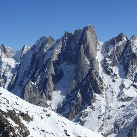 Unclimbed 5700m peak with huge granite face