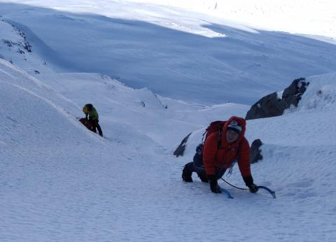 Final slopes under the summit