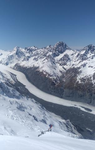 View to the Tasman Glacier from the East Ridge of Dixon
