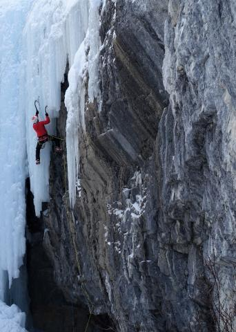 Haffner Creek ice and mixed climbing